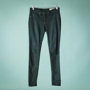 Rag & Bone 26 Black Plush Skinny Jeans